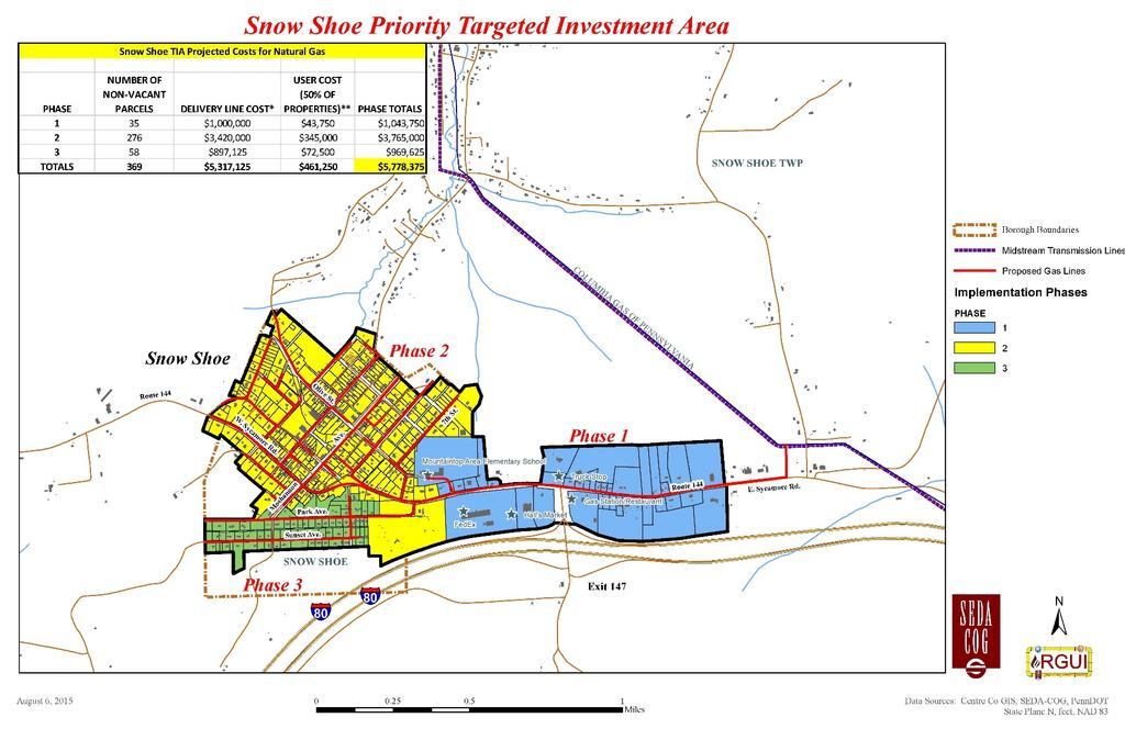 Figure 3-19: Snow Shoe Targeted Investment Area: