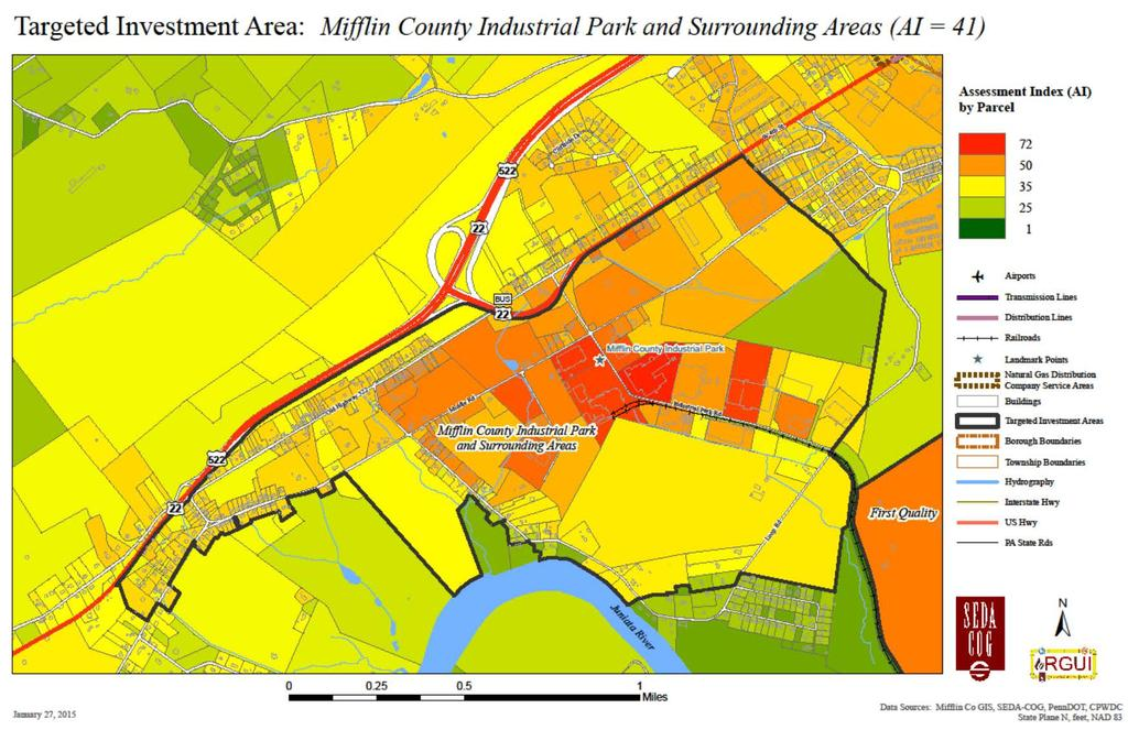 Figure 3-24: Mifflin County Industrial Park and