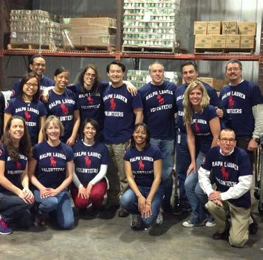 COMMUNITY COMMUNITY VOLUNTEERISM For more than a decade now, Ralph Lauren Volunteers has empowered employees to
