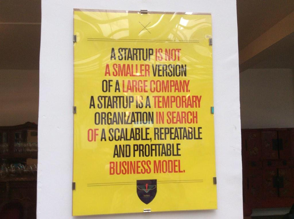 Startup and SME is not the same.