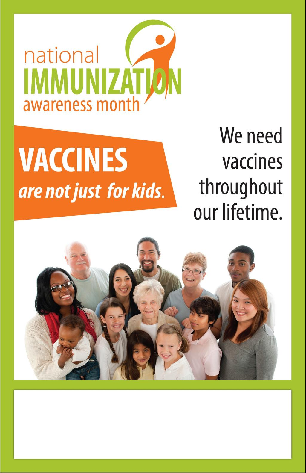 AUGUST is Immunizations are critical to the control of serious infectious diseases and aren t just for children. Getting vaccinated is an easy way to stay healthy all year round.