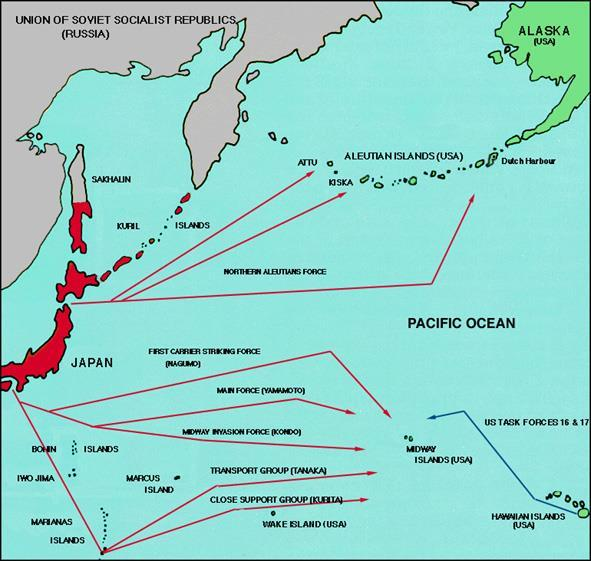 Battle of Midway June 1942 Japanese sought the annihilation of the U.S.