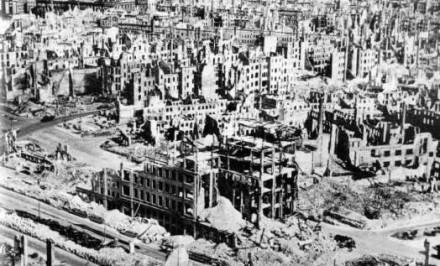 Firebombing of Dresden In area bombing, all enemy industry not just war munitions