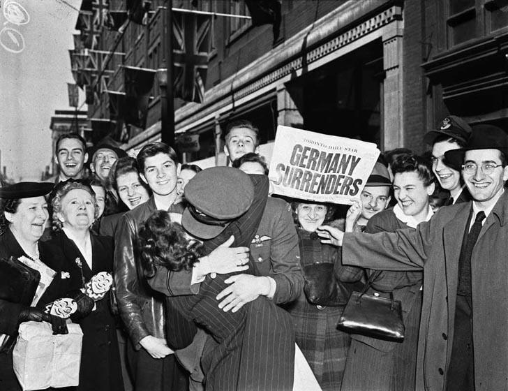 V-E Day May 8, 1945 Allies accepted Germany s