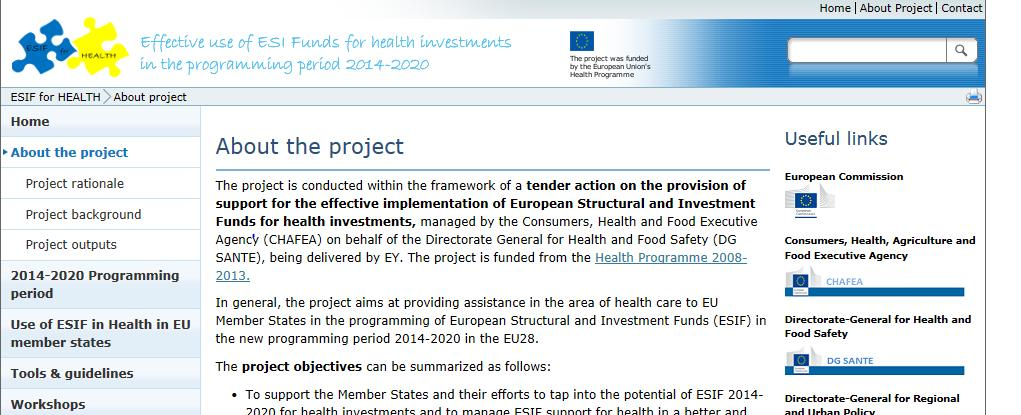 """Effective use of European Structural and Investment Funds for health"