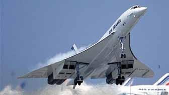 Concorde of Air France in spectacular take off Sepecat Jaguar two seater at the Show In 1975, there were 180 types of aircraft then on display at Le Bourget, ranging from the ultra-light Rallye and