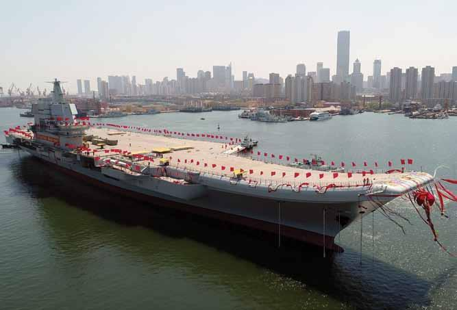WORLD AVIATION & DEFENCE NEWS PLAN s aircraft carrier plans China launched its new aircraft carrier on 26 April at Dalian, being the yet unnamed Type 001A.