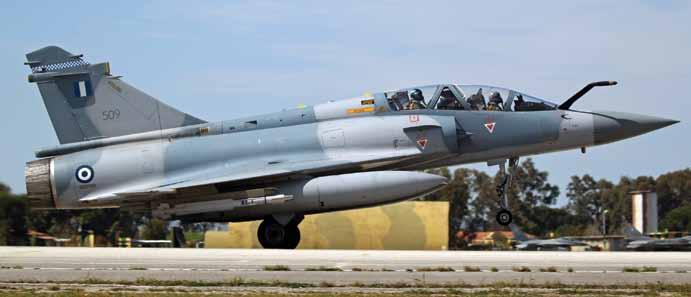 touchdown A Hellenic Air force Mirage 2000-5