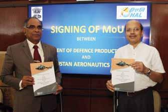 AVIATION &DEFENCE InIndia HAL MoU with MoD On 12 July 2017,T Suvarna Raju, CMD-HAL signed a Memorandum of Understanding (MoU) with Ashok Kumar Gupta, Secretary, Department of Defence Production for