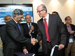IAI expands JV with Kalyani Group Executives from Israel Aerospace Industries (IAI) and Kalyani Strategic Systems Ltd.
