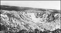 Beaumont Hamel The mine exploded at Hawthorne Ridge created