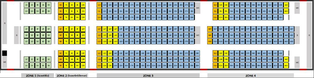 Special Seating Requirements B787-9 No Description (B) B787-9 (35PEY/340EY) Remarks 9 Not-To-Land (NTL) & Deportee (DEPO) Seating between 38 HJK to 43 HJK only Seating between 15 ABC to 20 ABC only