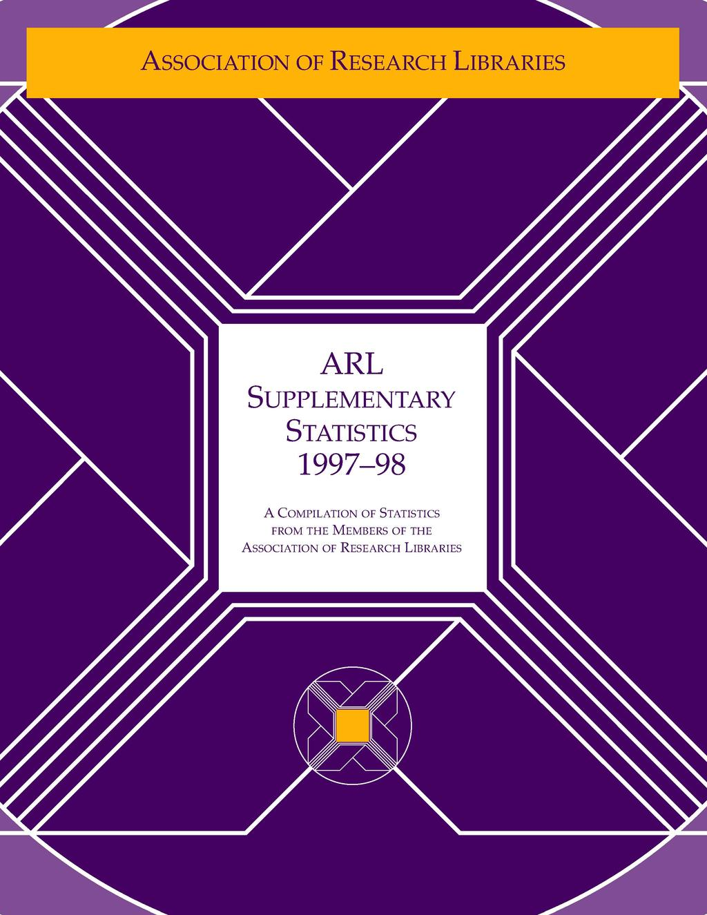 ARL SUPPLEMENTARY STATISTICS 1997-98 A COMPILATION OF
