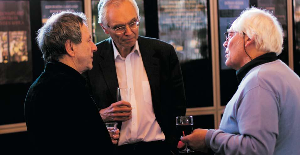 Distinguished Professor Paul Maylam with Professor Chris Mann (left), and Professor Malvern van Wyk Smith (right) at the 2011 launch of his book Enlightened Rule: Portraits of Six Exceptional