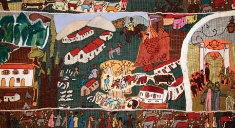 town of Hamburg in the Eastern Cape. Incorporating embroidery, applique and beadwork, the work is comprised of four panels which, together, are 22 metres in length.