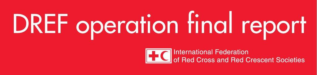 Jamaica: Tropical Storm Nicole DREF operation n MDRJM002 GLIDE n TC-2010-000192-JAM 02 June 2011 The International Federation of Red Cross and Red Crescent (IFRC) Disaster Relief Emergency Fund