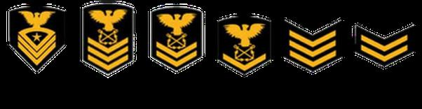 USNSCC Cadet Chevrons and Rating Badges