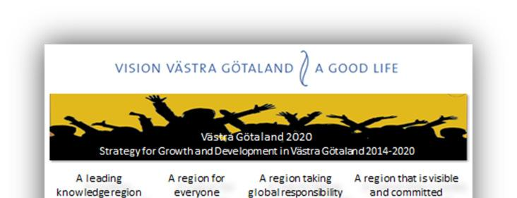 A. Governance initiatives A Region for the Municipalities The Governance Model in Västra Götaland In Västra Götaland a model for co-operation between municipalities and the region has been