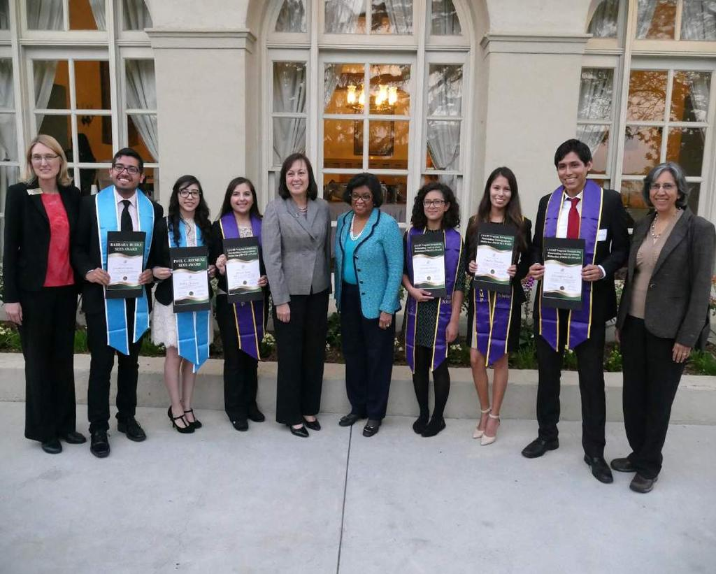 Hiemenz, Barbara Burke, and four LSAMP PROUD awards. In addition, the awarded students received graduation sashes to honor their dedication to their studies.