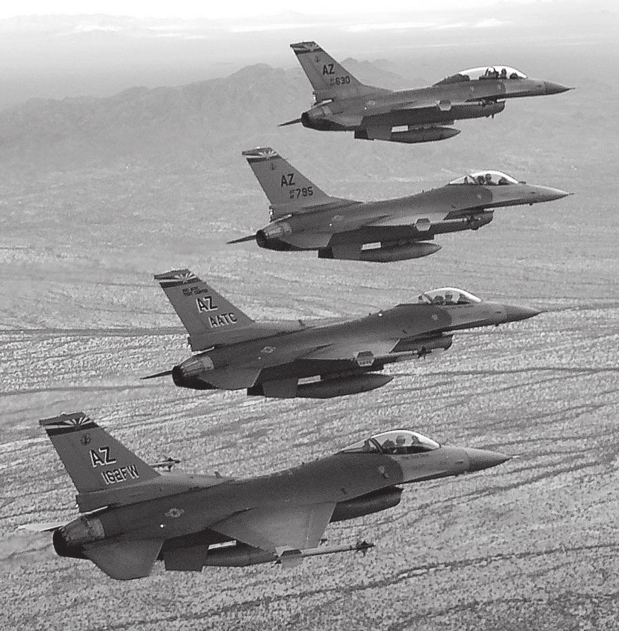 FEATURE ARTICLES 162 ND Fighter Wing Tucson International Airport The Tucson International Airport, located in Tucson, Airzona, is home to the Air National Guard s (ANG) premier F-16 fighter pilot