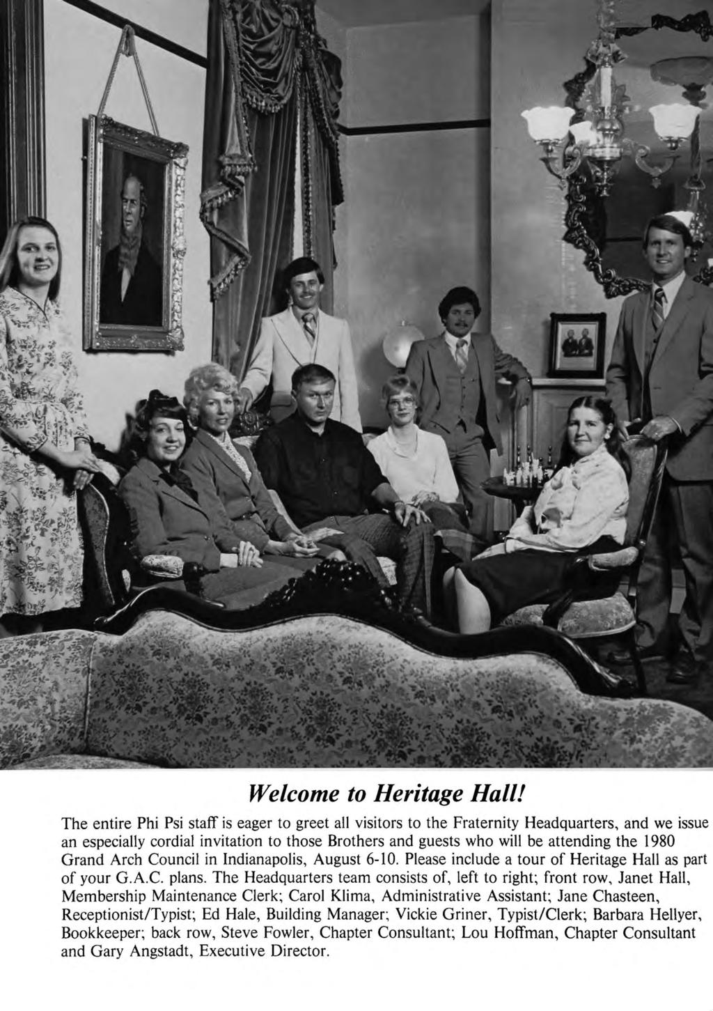 Welcome to Heritage Hall!