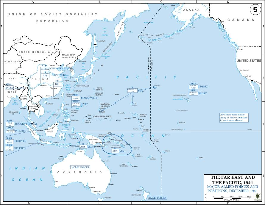 Allied Forces Disposition 28 War in the Pacific