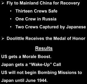Col Jimmy Doolittle Break Japan s
