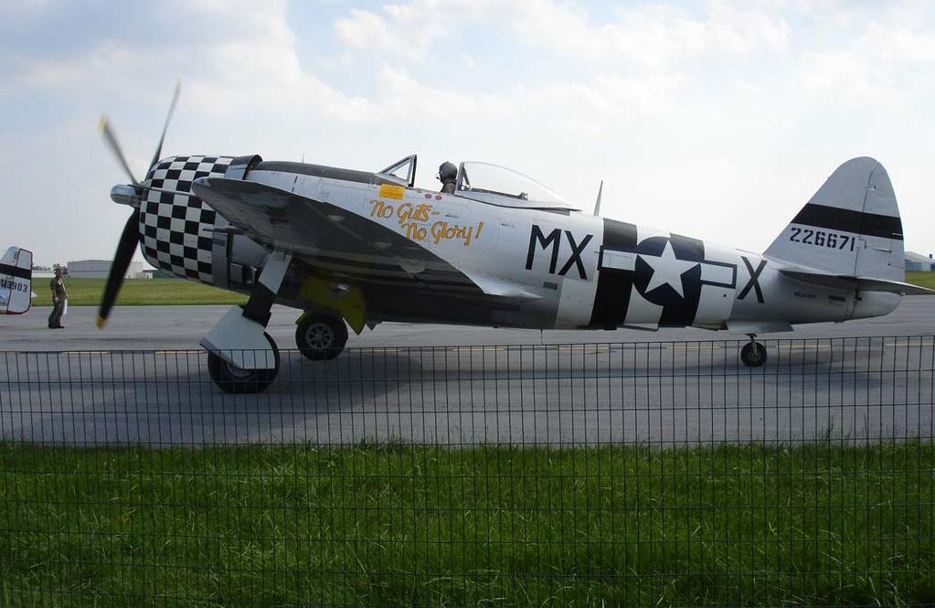 Another historic aircraft was a P-47.