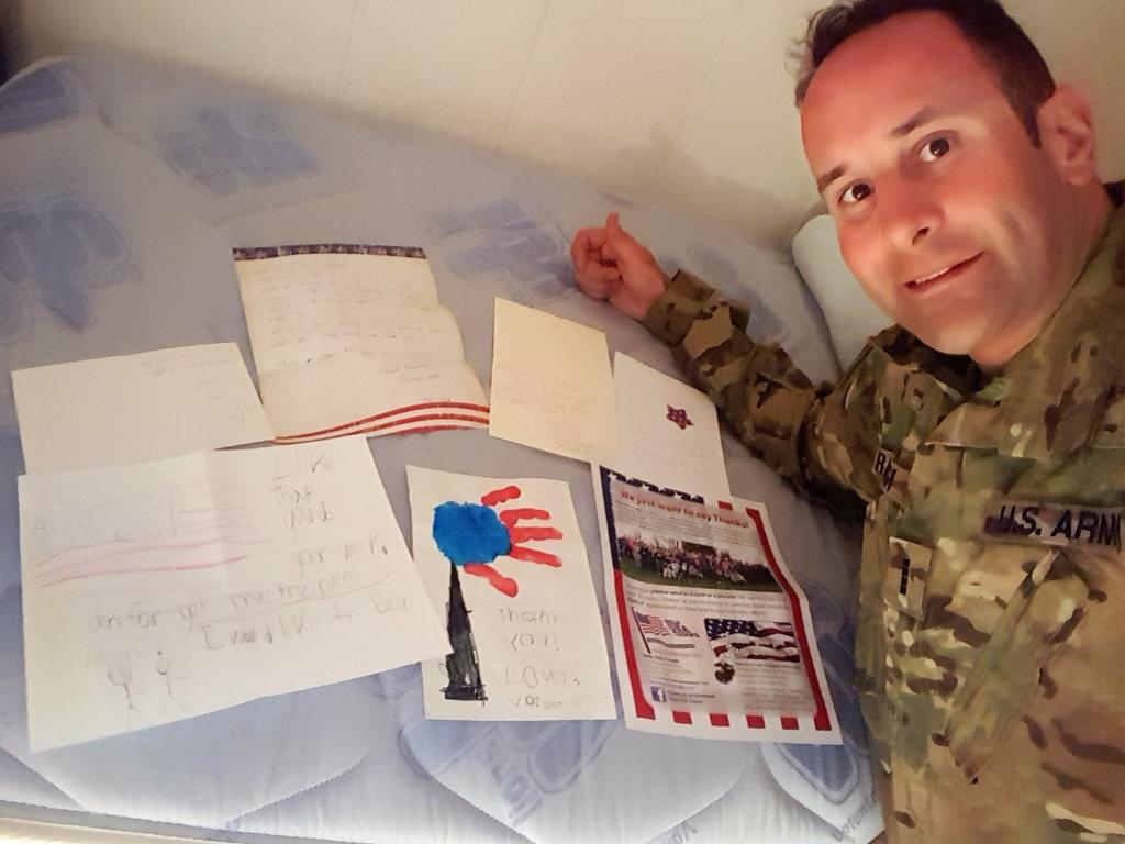 5/18/18 Dear Help USA Troops, Thank you for the care packages and letters of support that you sent to my company in Afghanistan.