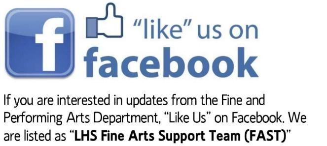 the Fine and Performing Arts Department, Like Us on