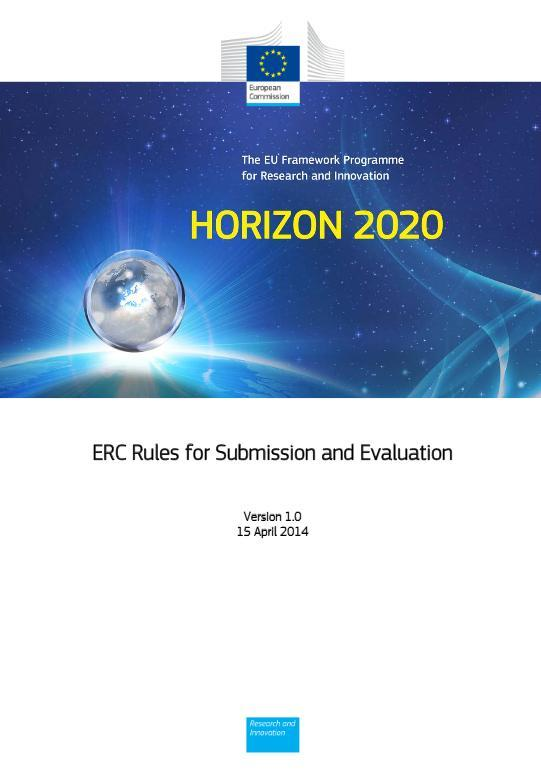 Important Documents ERC Work Programme ERC Rules