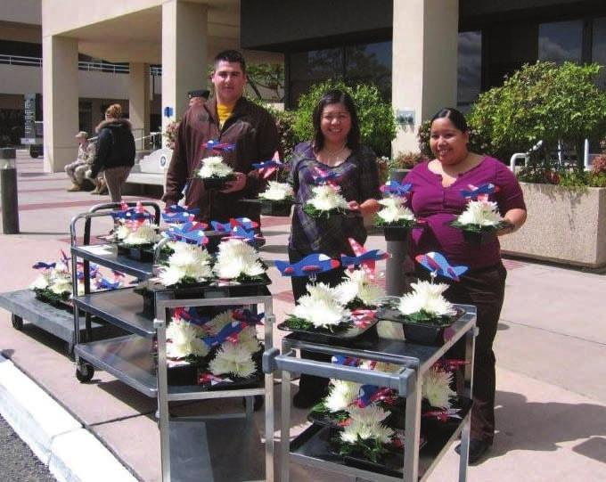 Naval Medical Center Thanks to Blooms From The Heart, the Armed Services YMCA distributed flowers