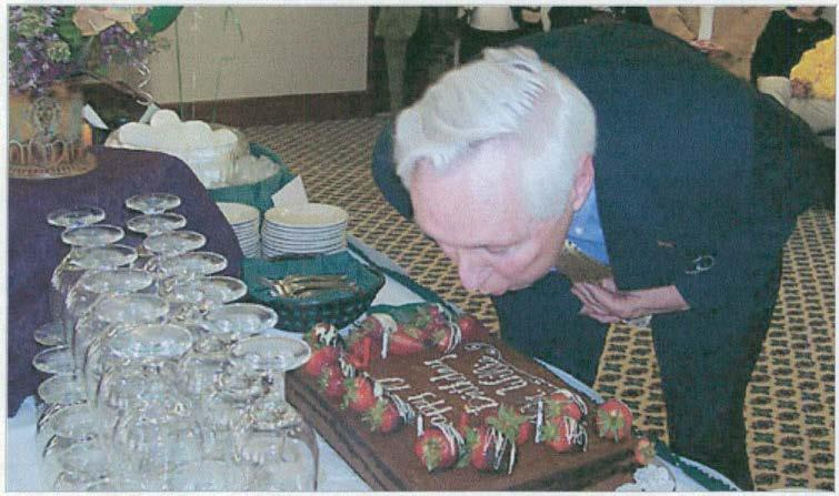 Willis was treated to a surprise party in Welch Hall to commemorate his 70th birthday.