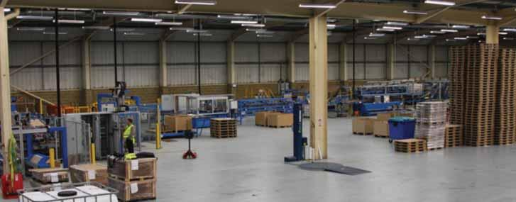 facility in Wellingborough, Northamptonshire, where it produces paper pallets in all the standard European and American sizes.