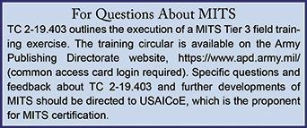 Tomorrow s operational environment requires MI leaders to rethink and relearn how to conduct home-station training.