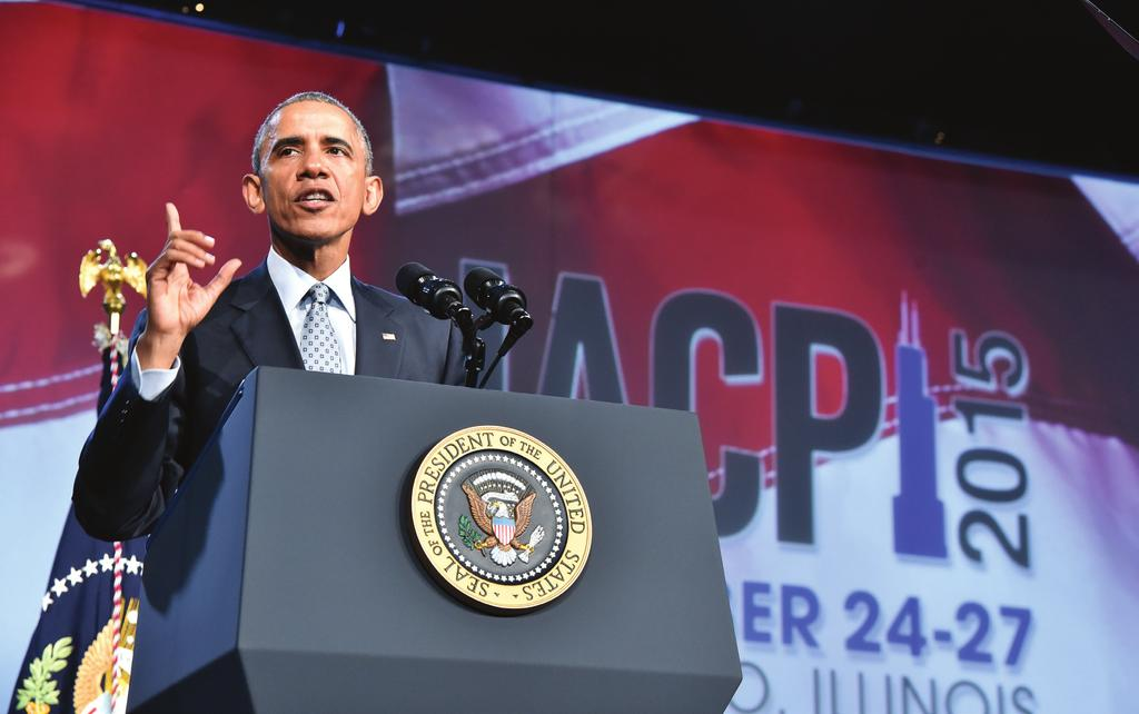President Obama addresses attendees at the 2015 IACP Annual