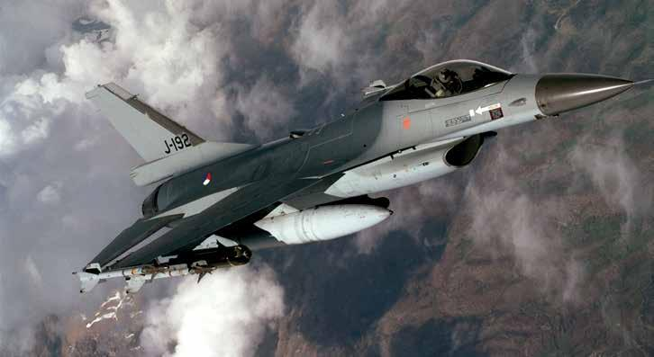 U.S. Air Force Royal Netherlands air force F-16A Falcon patrols skies over Kosovo during Operation Allied Force armed with AIM-9 missiles and cluster bombs Revisiting NATO s Kosovo Air War Strategic