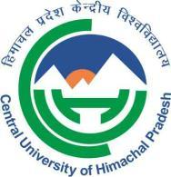 Central University of Himachal Pradesh (Established under Central Universities Act 2009) PO BOX: 21, DHARAMSHALA, DISTRICT KANGRA 176215, HIMACHAL PRADESH Coe/2-2/cuhp/2015 Dated: 03.11.