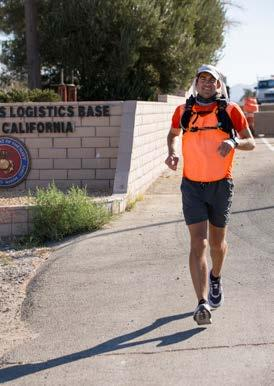 Running for hope across MCLB Barstow Story and photos by: Keith Hayes Public Affairs Specialist One leg of an ambitious project to run from coast to coast included an Indiana native crossing Marine