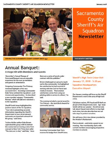 6 Newsletter: Updated Look This month our Sheriff s Air Squadron Newsletter receives a facelift. The new format allows additional photos each month, updates graphics and generally has a fresher look.