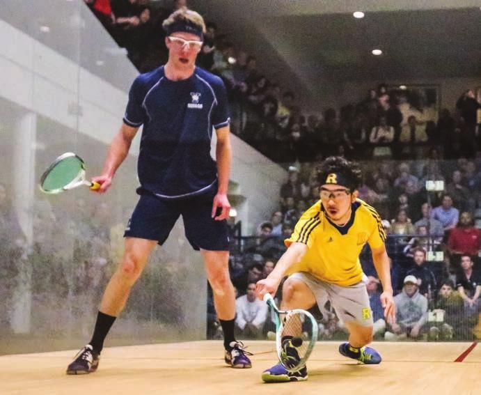 SPORTS HIGHLIGHTS Squash Team Finishes as National Runner-up Although the Yellowjackets came heartbreakingly short of claiming their first squash national championship, the 2015 16 season was marked
