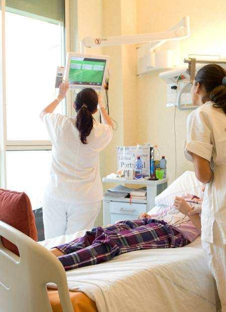A modern hospital Patients have access to: Single-double beds rooms withprivate