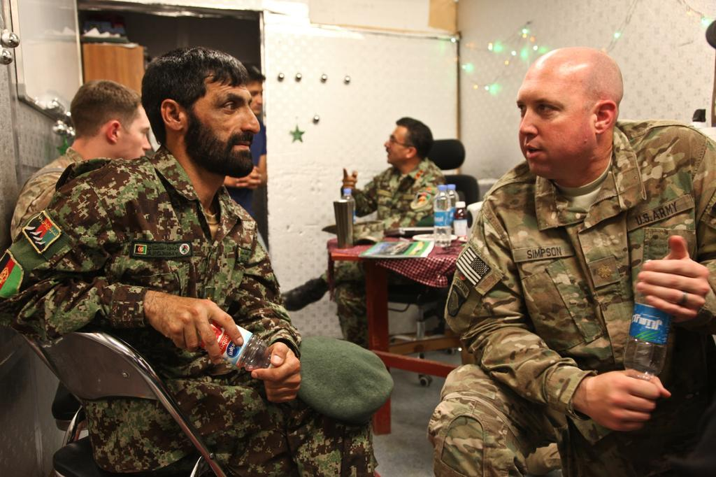 Division, and Afghan National Army Lt. Col.