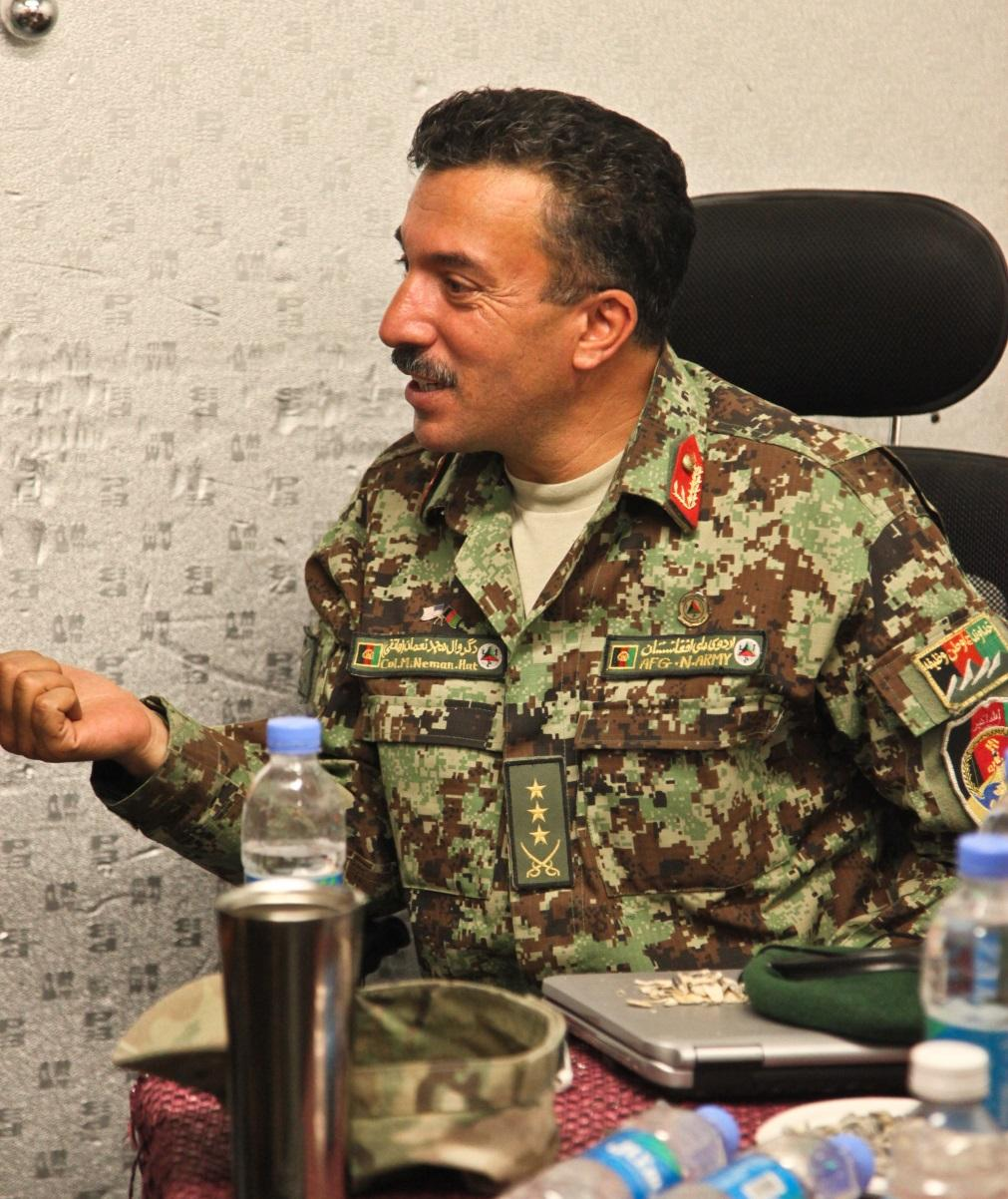 Meeting at FOB Gamberi Afghan National Army Col.