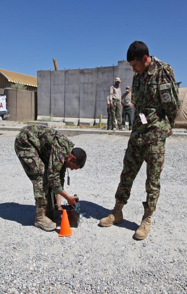 ANA Train the Trainer Course at FOB Gamberi Afghan National Army 2nd Lt.