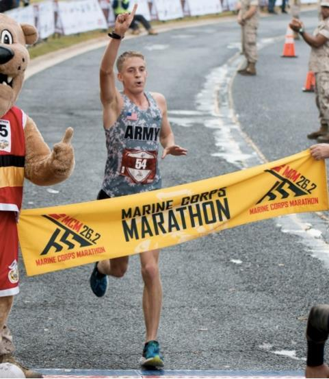 Army officer takes first place at Marine Corps Marathon Army 2nd Lt.