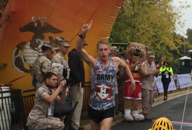 annual Marine Corps Marathon on Sunday with a time of 2 hours 24 minutes.