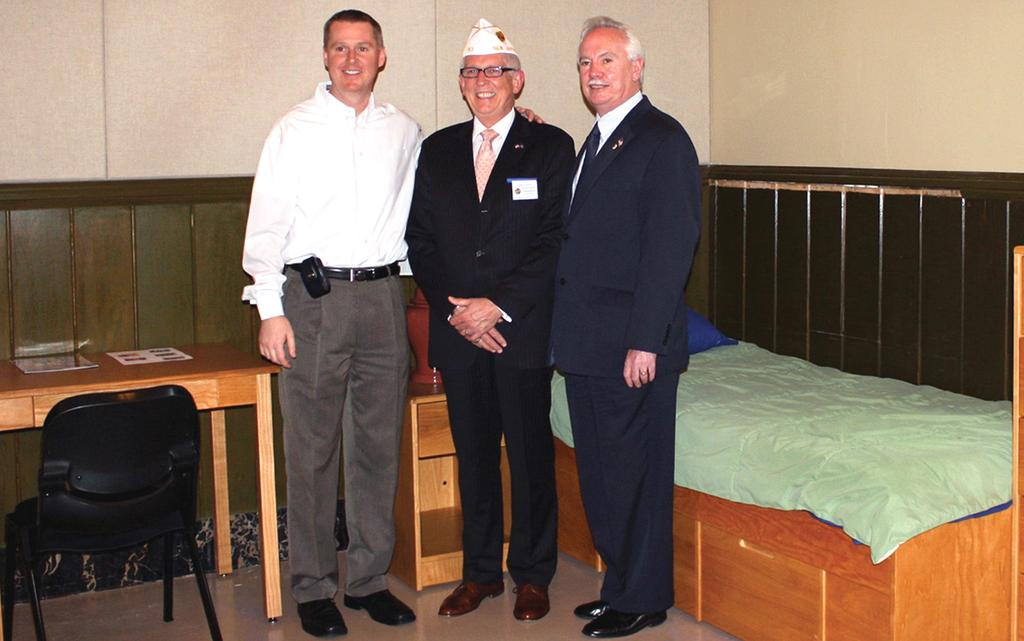 Legion comes through for Veteran s Haven Ray Zawacki, right to left, Deputy Commissioner for Veterans Affairs, along with American Legion State Commander for New Jersey Robert Looby and Dave