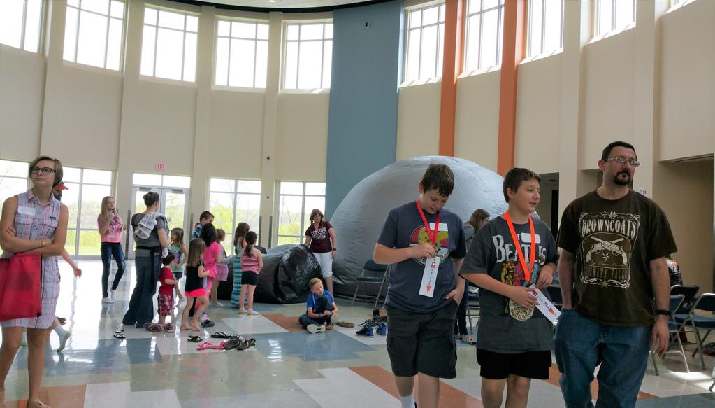 The NASA STAR Lab featured in the picture above was a very popular STEM Family Fun Day activity provided by West Virginia State University s Center for the Advancement of