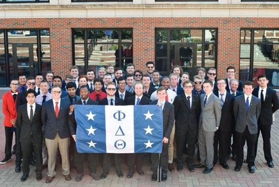 Expansion Kevin Ireland, Eastern Washington 16, and Alex Atkinson, Missouri Western 16, leadership consultants from Phi Delta Theta Headquarters, began recruiting and building the organization in